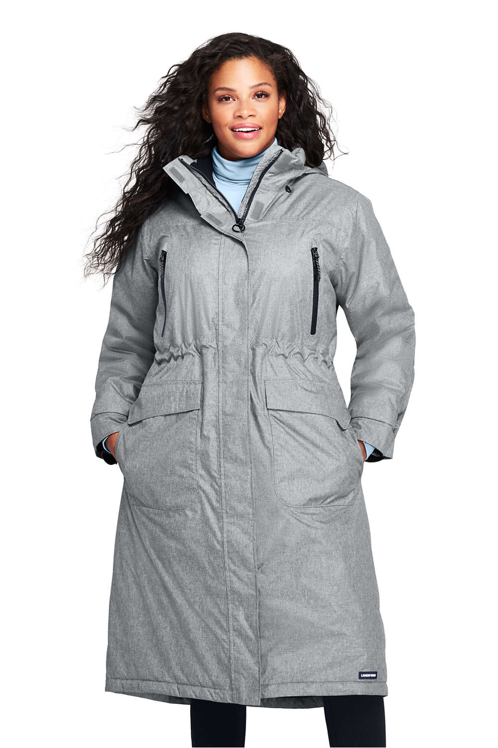 a6289ba017 Women s Plus Size Squall Insulated Long Stadium Coat from Lands  End