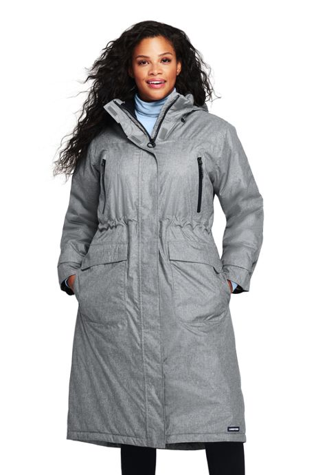 d1dab130ec9b6 Plus Size Insulated Long Coat, Plus Size Winter Coats, Women's Coats ...