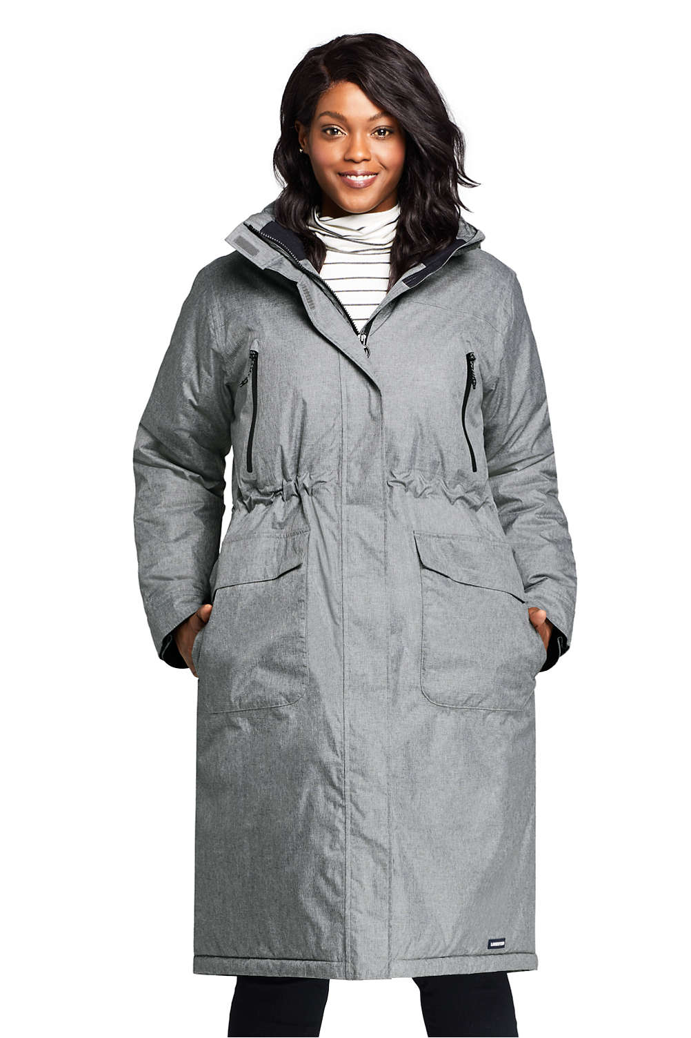 favorable price classic style top-rated real Women's Plus Size Squall Insulated Long Stadium Coat