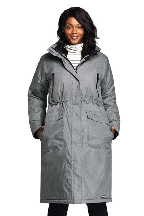 Plus Size Insulated Long Coat, Plus Size Winter Coats