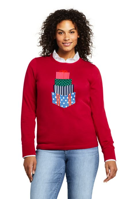 Women's Plus Size Supima Cotton Christmas Sweater
