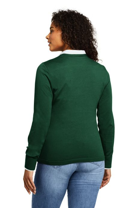 Women's Petite Supima Cotton Christmas Sweater