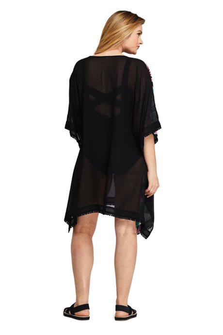 Women's Woven Dolman Kaftan Swim Cover-up Print