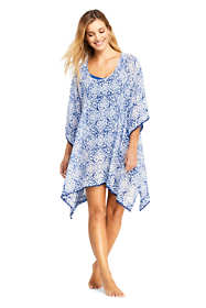 Women's Woven Dolman Caftan Swim Cover-up Print