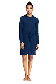 01bb731912 Women s Cotton Jersey Hooded Full Zip Swim Cover-up