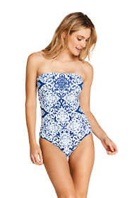 Women's Perfect Bandeau One Piece Swimsuit with Tummy Control Print