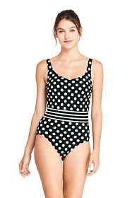 Women's Tummy Control V-Neck One Piece Swimsuit Adjustable Straps Print