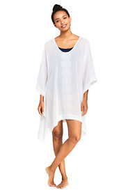 Women's Embroidered Woven Dolman Caftan Swim Cover-up