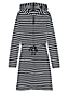 Women's Hooded Stripe Jersey Coverup
