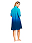 Robe Chemise Boyfriend de Plage à Motifs, Femme Grande Taille