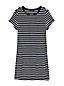 Women's Plus Striped Terry T-shirt Dress Beach Coverup