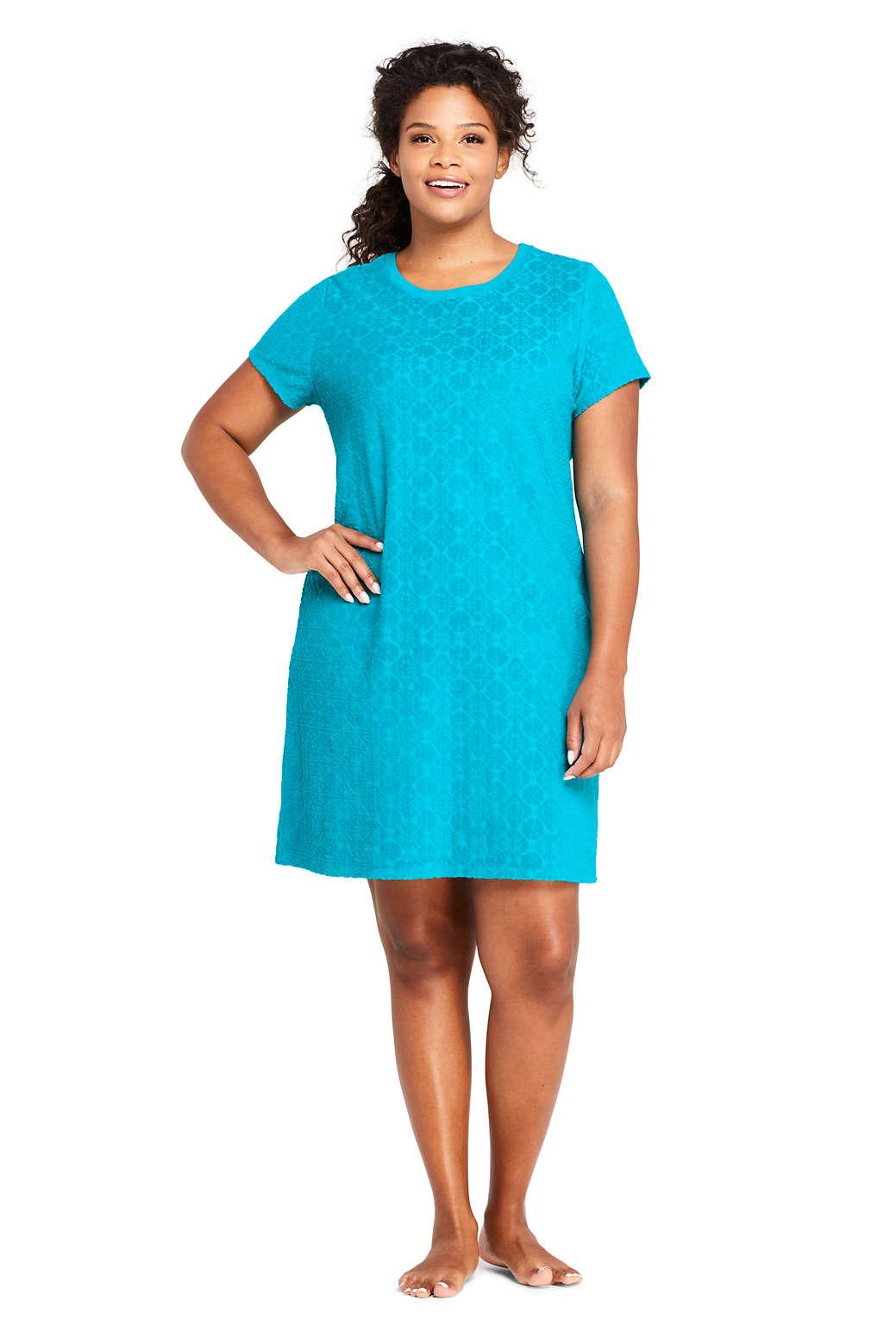62c7b6e7ad1ea Plus Size Swim Dress Cover Up