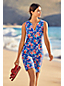 Women's Plus Sleeveless Print Cotton Cover-up