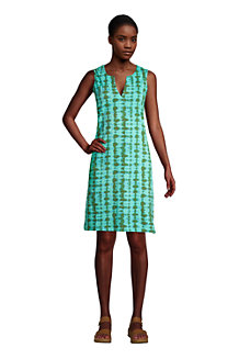 Women's Sleeveless Print Cotton Cover-up