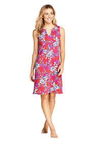Women's Cotton Jersey Sleeveless Tunic Dress Swim Cover-up Print