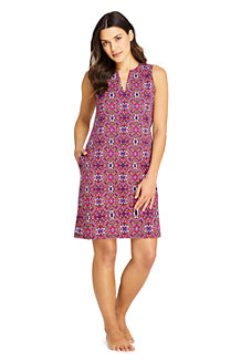 Women's Sleeveless Print Cotton Cover-up