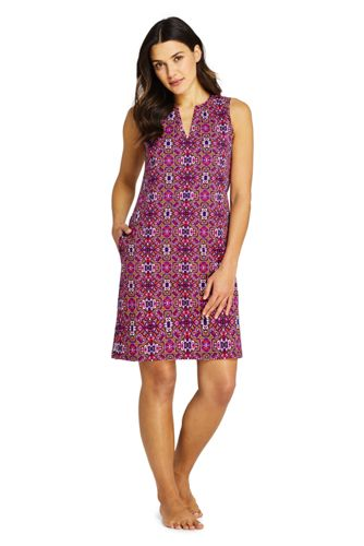 Strandkleid Print für Damen in Plus-Größe