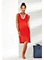 Tunique de Plage Sans Manches en Coton, Femme Stature Standard