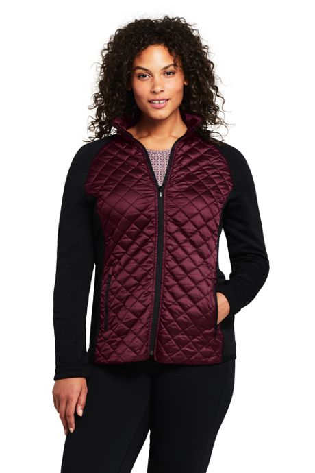 Women's Plus Size Active Hybrid Insulated Powerstretch Jacket