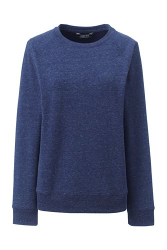 Le Sweatshirt Stretch en French Terry Brossé, Femme Stature Standard