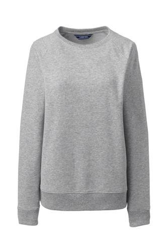 Le Sweatshirt Stretch en French Terry Brossé, Femme Stature Standard