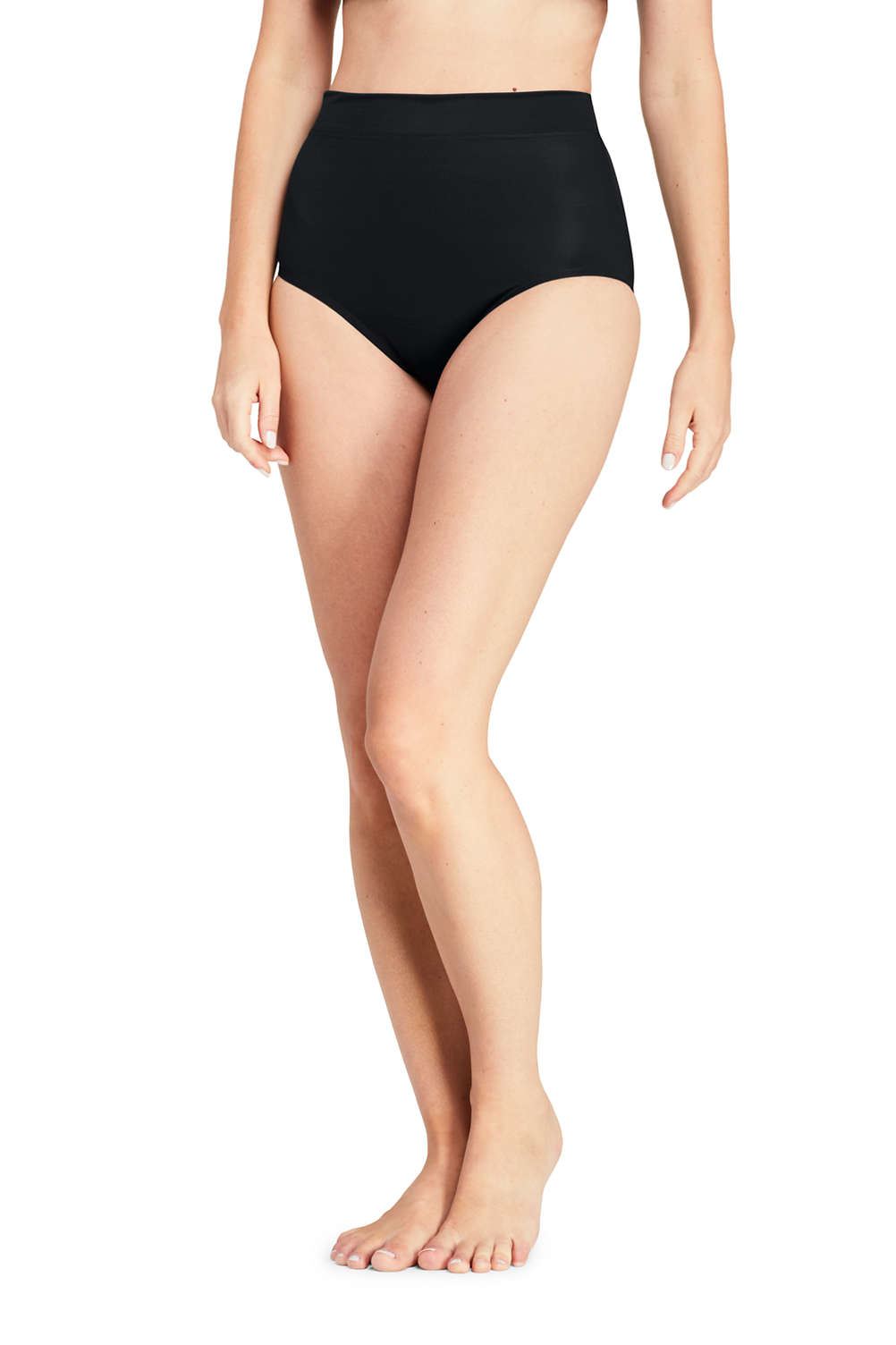 a06c8f8f169ca Women's Slender High Waisted Tummy Control Bikini Bottoms from Lands' End