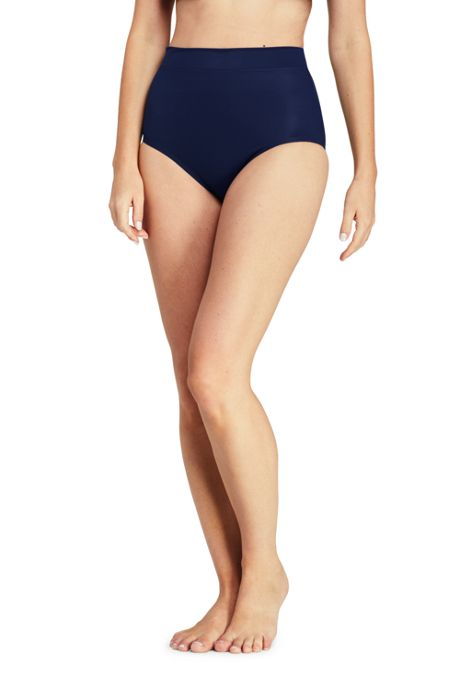 Women's Slender High Waisted Bikini Bottoms with Tummy Control