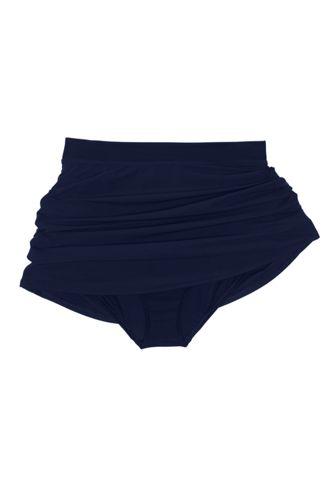 Women's Plus Size Slender Tummy Control Chlorine Resistant Swim Skirt Swim Bottoms