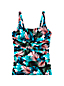 Women's Plus Slender Separates Print Square Neck Tankini
