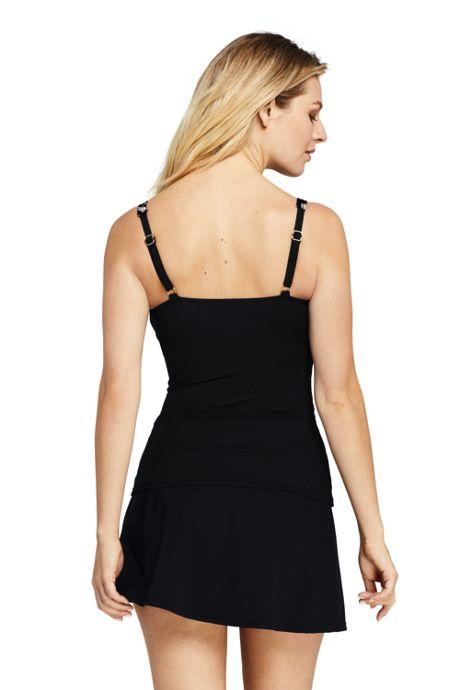 Women's Slender Square Neck Underwire Tankini Top Swimsuit Print
