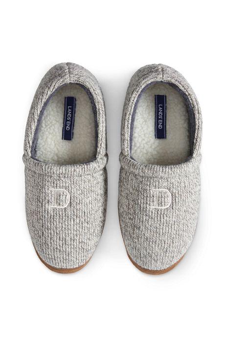 Men's Knit Moc Slippers