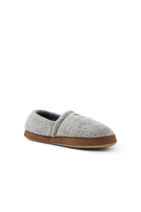 Men's Knit Moc Slippers