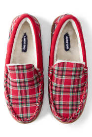 Men's Moccasin Slippers-Plaid