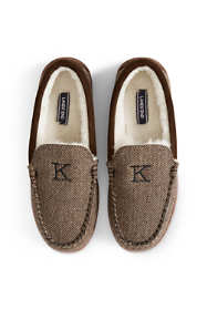 Men's Herringbone Moccasin Slippers