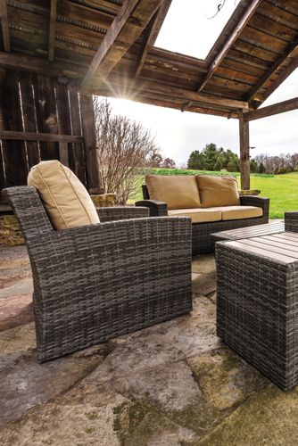 All-Weather Wicker Conversation Set