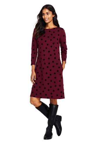 Women's Ponte Jersey Dot Shift Dress