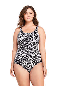 Women's Plus Size G-Cup Slender Carmela Underwire One Piece Swimsuit with Tummy Control Print