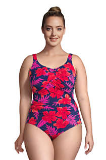 Women's Plus Size Long Slender Carmela Tummy Control Chlorine Resistant One Piece Swimsuit Print, alternative image