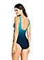 Women's Wrap Front Slender Swimsuit, Pattern - DDD Cup