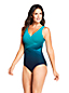 Women's Wrap Front Slender Swimsuit, Pattern - DD Cup