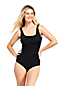 Women's Slender Square Neck Wrap Front Swimsuit