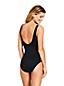 Women's Slender Print Square Neck Wrap Front Swimsuit