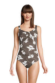 Women's Slender Carmela Tummy Control Chlorine Resistant Scoop Neck One Piece Swimsuit