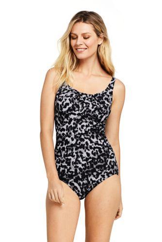 Shape-Badeanzug mit Bügel Gemustert SLENDER für Damen in D-Cup