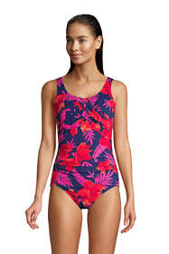 Women's DD-Cup Slender Carmela Tummy Control Chlorine Resistant One Piece Swimsuit Print