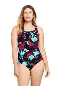 Women's Slender Carmela Tummy Control Chlorine Resistant Scoop Neck One Piece Swimsuit