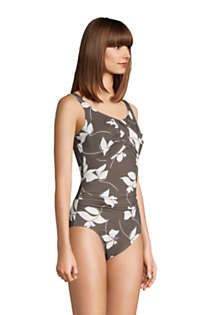 Women's Slender Carmela Tummy Control Chlorine Resistant Scoop Neck One Piece Swimsuit, alternative image