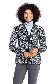 Women's Print Cozy Sherpa Fleece Jacket