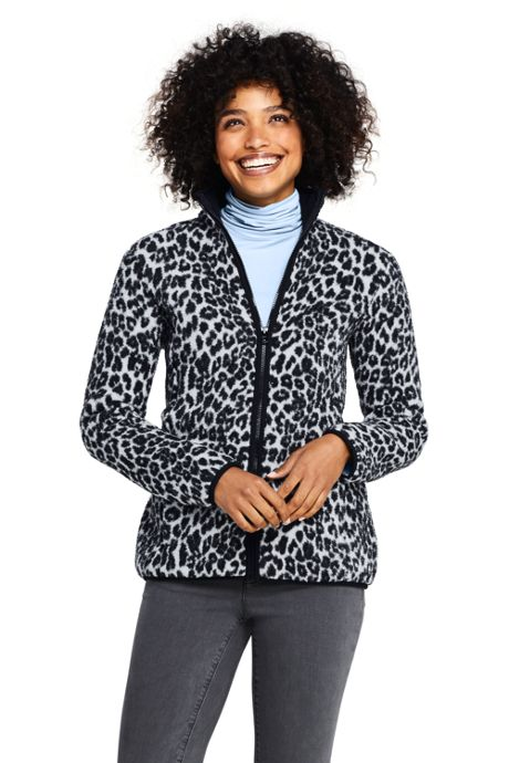 Women's Print Cozy Sherpa Fleece Jacket
