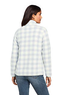 Women's Print Cozy Sherpa Fleece Jacket, Back